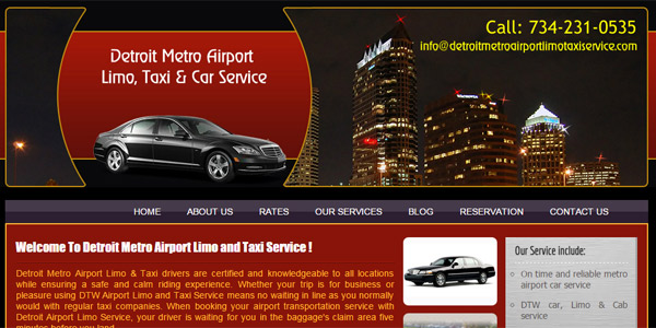 Detroit Metro Airport Limo and Taxi Service